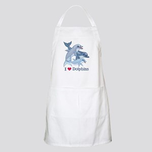 Dolphin Family and Text BBQ Apron